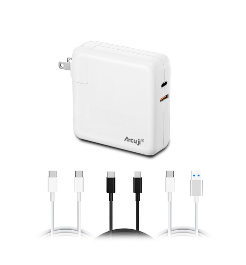 Atcuji 61MA USB C PD Power Supply with 90W Power Delivery for Apple 61W USB-C Power Adapter MacBook Pro 61W USB C Charger 2018 MacBook Air Quick Charge iPhone X XS Max XR Samsung and more(UL Listed)